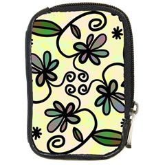 Completely Seamless Tileable Doodle Flower Art Compact Camera Cases by Nexatart