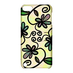 Completely Seamless Tileable Doodle Flower Art Apple Ipod Touch 5 Hardshell Case With Stand by Nexatart