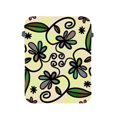Completely Seamless Tileable Doodle Flower Art Apple Ipad 2/3/4 Protective Soft Cases by Nexatart