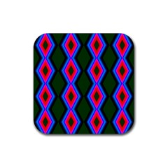 Quadrate Repetition Abstract Pattern Rubber Coaster (square)