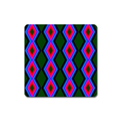 Quadrate Repetition Abstract Pattern Square Magnet by Nexatart