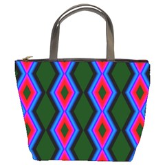 Quadrate Repetition Abstract Pattern Bucket Bags by Nexatart