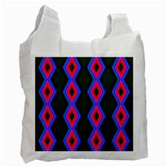 Quadrate Repetition Abstract Pattern Recycle Bag (one Side) by Nexatart