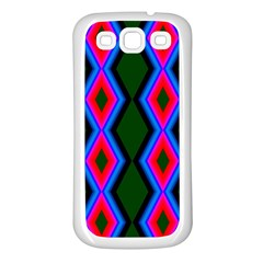 Quadrate Repetition Abstract Pattern Samsung Galaxy S3 Back Case (white)