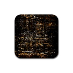 Wood Texture Dark Background Pattern Rubber Square Coaster (4 Pack)  by Nexatart