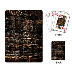 Wood Texture Dark Background Pattern Playing Card