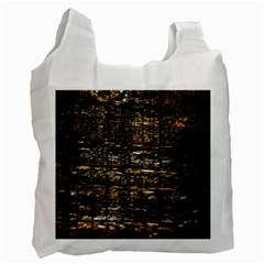 Wood Texture Dark Background Pattern Recycle Bag (one Side) by Nexatart