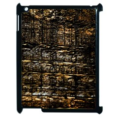 Wood Texture Dark Background Pattern Apple Ipad 2 Case (black)