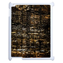 Wood Texture Dark Background Pattern Apple Ipad 2 Case (white) by Nexatart