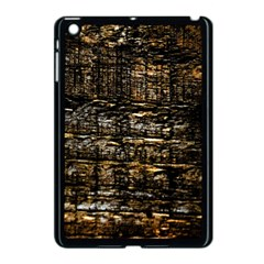 Wood Texture Dark Background Pattern Apple Ipad Mini Case (black) by Nexatart