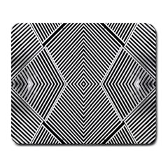 Black And White Line Abstract Large Mousepads by Nexatart