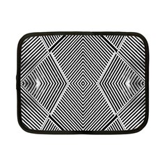 Black And White Line Abstract Netbook Case (small)