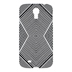Black And White Line Abstract Samsung Galaxy S4 I9500/i9505 Hardshell Case by Nexatart