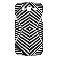 Black And White Line Abstract Samsung Galaxy Mega 5 8 I9152 Hardshell Case  by Nexatart