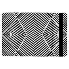 Black And White Line Abstract Ipad Air Flip