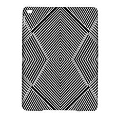 Black And White Line Abstract Ipad Air 2 Hardshell Cases by Nexatart