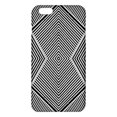 Black And White Line Abstract Iphone 6 Plus/6s Plus Tpu Case by Nexatart