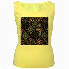 Pixel Pattern Colorful And Glittering Pixelated Women s Yellow Tank Top by Nexatart