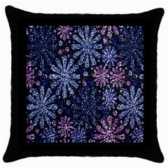 Pixel Pattern Colorful And Glittering Pixelated Throw Pillow Case (black) by Nexatart