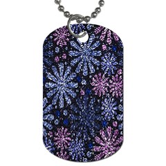 Pixel Pattern Colorful And Glittering Pixelated Dog Tag (one Side) by Nexatart