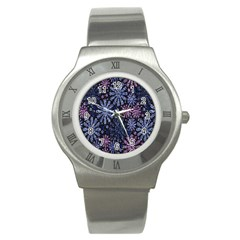 Pixel Pattern Colorful And Glittering Pixelated Stainless Steel Watch