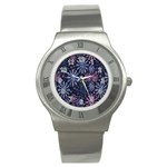 Pixel Pattern Colorful And Glittering Pixelated Stainless Steel Watch Front