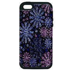 Pixel Pattern Colorful And Glittering Pixelated Apple Iphone 5 Hardshell Case (pc+silicone)