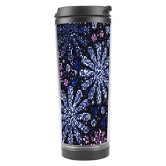 Pixel Pattern Colorful And Glittering Pixelated Travel Tumbler by Nexatart