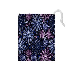 Pixel Pattern Colorful And Glittering Pixelated Drawstring Pouches (medium)  by Nexatart