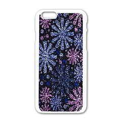 Pixel Pattern Colorful And Glittering Pixelated Apple Iphone 6/6s White Enamel Case