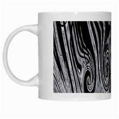 Abstract Swirling Pattern Background Wallpaper White Mugs