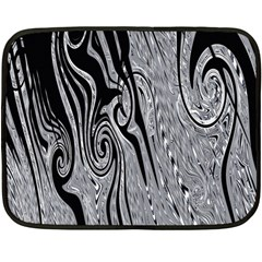 Abstract Swirling Pattern Background Wallpaper Double Sided Fleece Blanket (mini)  by Nexatart