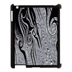 Abstract Swirling Pattern Background Wallpaper Apple Ipad 3/4 Case (black)