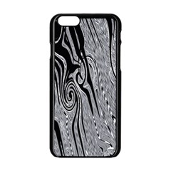 Abstract Swirling Pattern Background Wallpaper Apple Iphone 6/6s Black Enamel Case by Nexatart