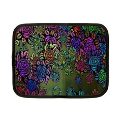 Grunge Rose Background Pattern Netbook Case (small)