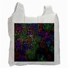 Grunge Rose Background Pattern Recycle Bag (one Side)