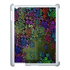 Grunge Rose Background Pattern Apple Ipad 3/4 Case (white)