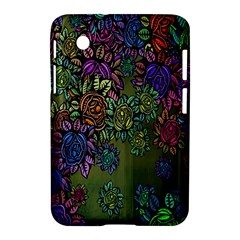 Grunge Rose Background Pattern Samsung Galaxy Tab 2 (7 ) P3100 Hardshell Case  by Nexatart