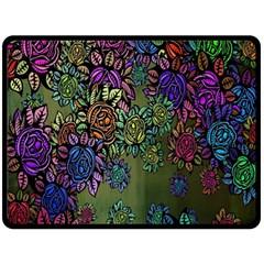 Grunge Rose Background Pattern Double Sided Fleece Blanket (large)  by Nexatart