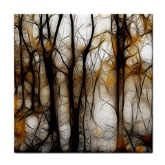 Fall Forest Artistic Background Tile Coasters by Nexatart