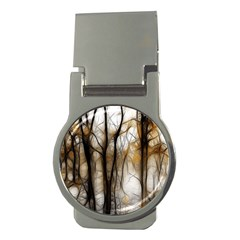 Fall Forest Artistic Background Money Clips (round)
