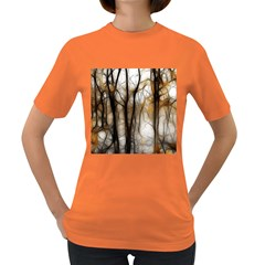 Fall Forest Artistic Background Women s Dark T Shirt