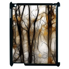 Fall Forest Artistic Background Apple Ipad 2 Case (black) by Nexatart