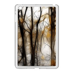 Fall Forest Artistic Background Apple Ipad Mini Case (white) by Nexatart