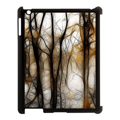 Fall Forest Artistic Background Apple Ipad 3/4 Case (black) by Nexatart