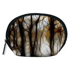 Fall Forest Artistic Background Accessory Pouches (medium)  by Nexatart