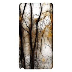 Fall Forest Artistic Background Galaxy Note 4 Back Case