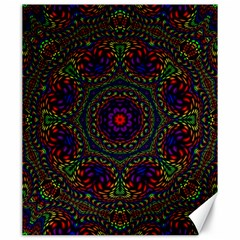 Rainbow Kaleidoscope Canvas 20  X 24   by Nexatart