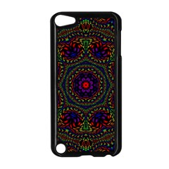 Rainbow Kaleidoscope Apple Ipod Touch 5 Case (black) by Nexatart