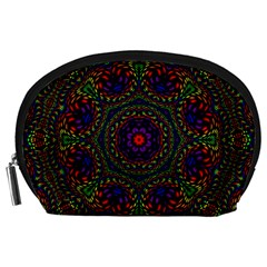 Rainbow Kaleidoscope Accessory Pouches (large)  by Nexatart